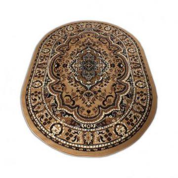 Dywan owalny BCF Ankara 06 brązowy rozeta