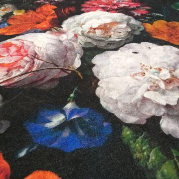 Dywan nowoczesny Universal 19 czarny kwiaty