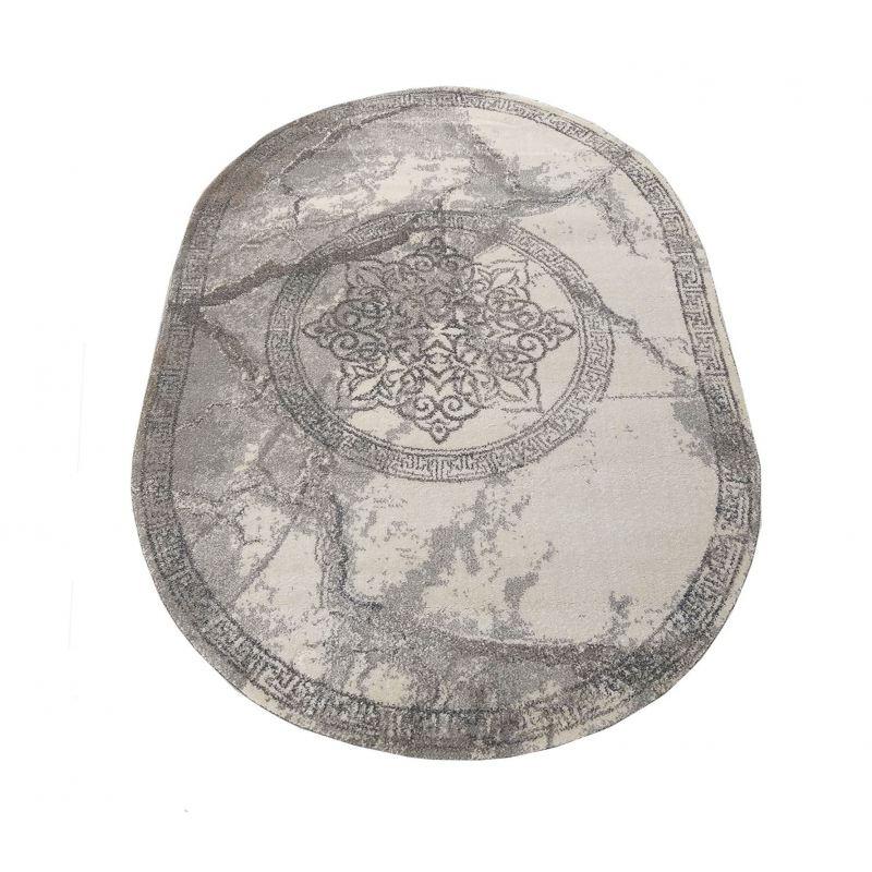 Dywan nowoczesny szary owalny Grigio 04 szary rozeta