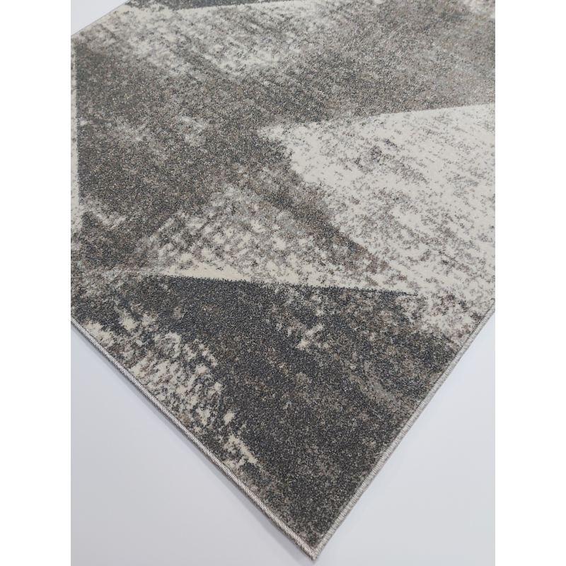 Dywan do salonu nowoczesny szary Lusso 4- geometryczny