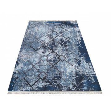 Dywan bawełniany nowoczesny Hyper 01 niebieski