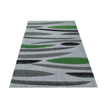 Dywan nowoczesny Bueno 01S szaro-zielony