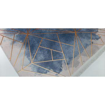 Dywan nowoczesny antypoślizgowy Universal 16 niebieski
