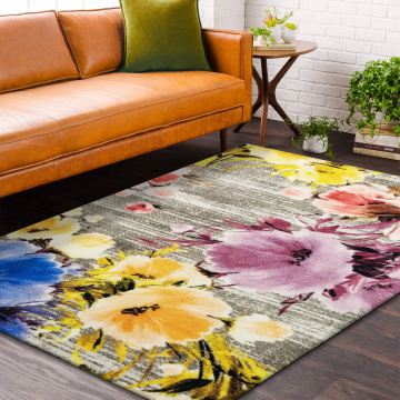 Dywany nowoczesny LUX 04- wielokolorowy w kwiaty
