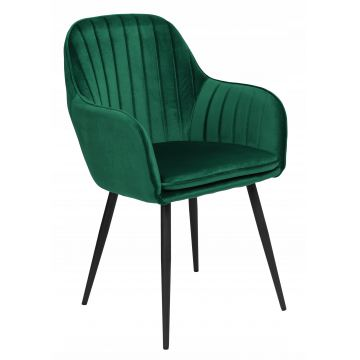 Krzesło welurowe SEVE VELVET butelkowa zieleń