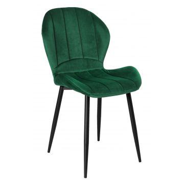 Krzesło welurowe SHEVY VELVET butelkowa zieleń