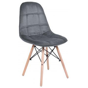 Krzesło welurowe Ly - grafitowy