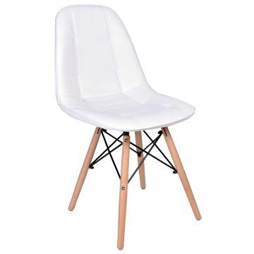 Krzesło Ly - ekoskóra- białe