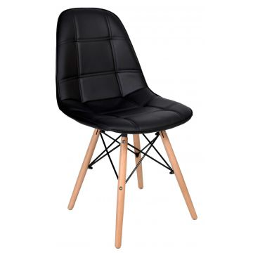 Krzesło Ly -ekoskóra- czarne