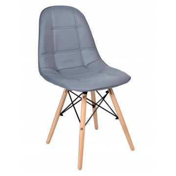 Krzesło Ly - ekoskóra- szare