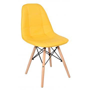 Krzesło Ly - ekoskóra- żółte
