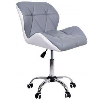 Krzesło biurowe obrotowe MORY biało-szare