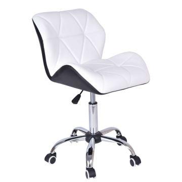 Krzesło biurowe obrotowe MORY czarno-białe