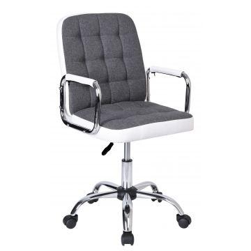 Fotel biurowy Karly biało-szary