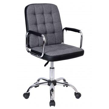 Fotel biurowy Karly szaro-czarny
