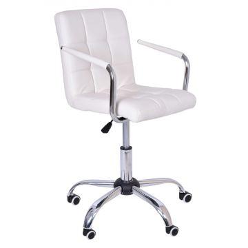 Fotel biurowy- kosmetyczny Ritmy - biały