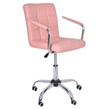 Fotel biurowy- kosmetyczny Ritmy - różowy