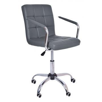 Fotel biurowy- kosmetyczny Ritmy - szary