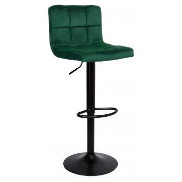 Hoker krzesło barowe ARAKY Velvet- butelkowa zieleń