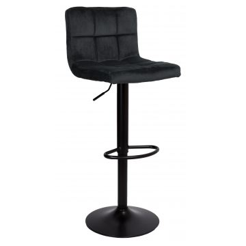 Hoker krzesło barowe ARAKY Velvet- czarne
