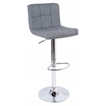 Hoker krzesło barowe ARAKY tapicerowane grafitowe