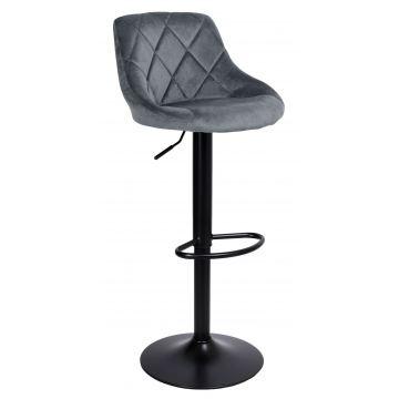 Hoker krzesło barowe CYDRY Velvet- grafitowe