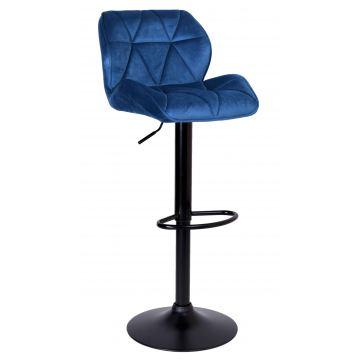 Hoker krzesło barowe GRAPPY aksamitne- granatowe