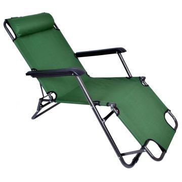 Fotel Leżak ogrodowy/ plażowy LEY - zielony