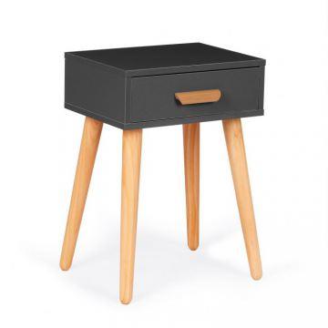 Nowoczesny Stolik kawowy szafka nocna z szufladą szary