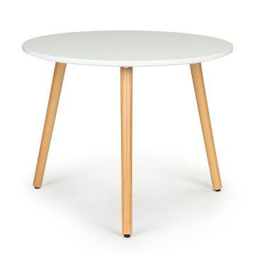 Stolik kawowy nowoczesny skandynawski biały okrągły 60cm