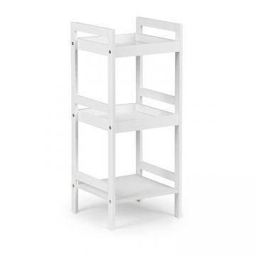 Regał szafka nocna stolik nocny 3 półki- biały
