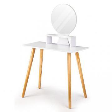 Toaletka kosmetyczna z lustrem biurko konsola