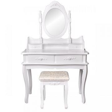 Toaletka kosmetyczna 90cm lustro+taboret