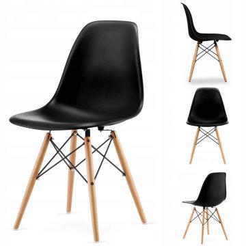 Krzesło zestaw 4x krzesła salonu jadalni czarne