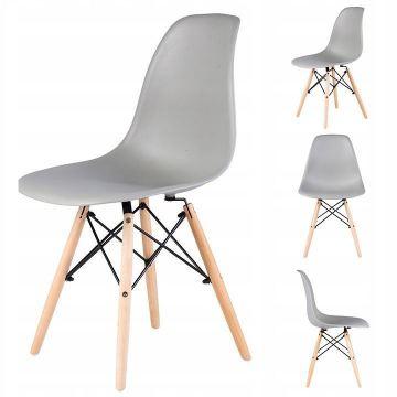 Krzesło krzesła zestaw 4 krzeseł do salonu jadalni- szare