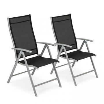 Krzesło ogrodowe regulowane 7 stopniowe oparcie zestaw 2szt