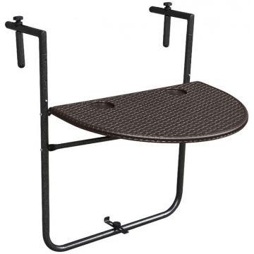 Stolik balkonowy składany zawieszany na poręcz