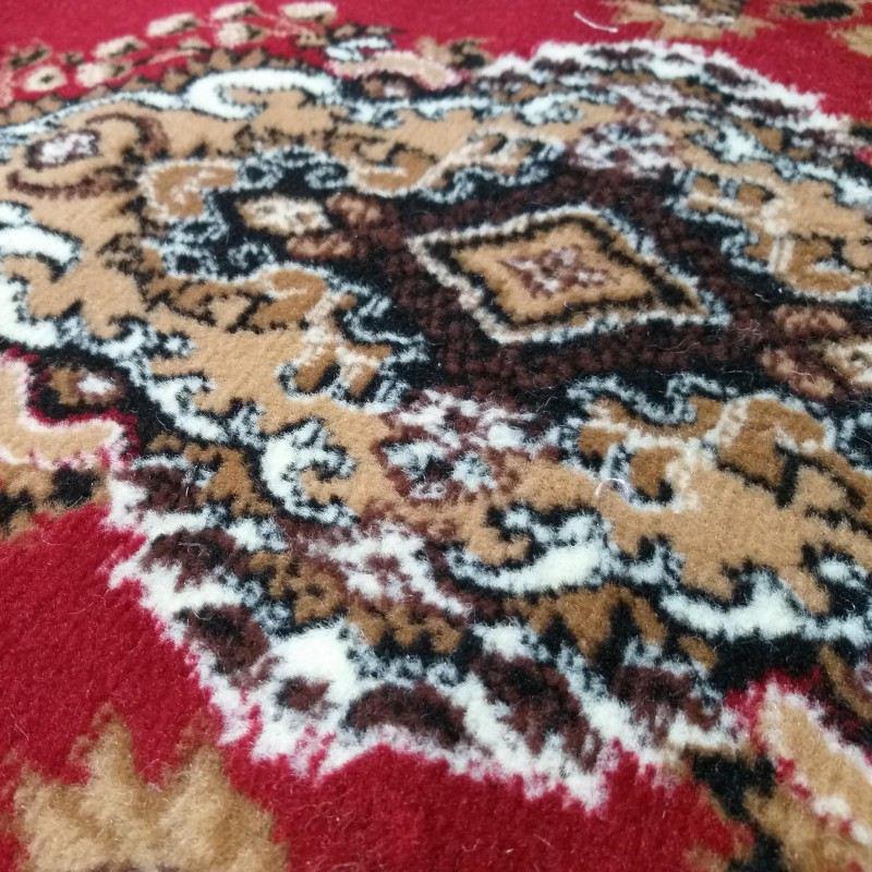 Dywan owalny BCF Ankara 06 czerwony rozeta