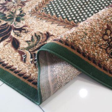 Dywan klasyczny BCF Ankara  01 owalny zielony- kwiaty