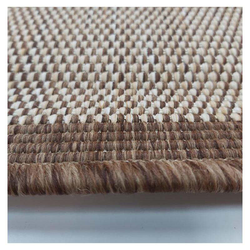 Dywan sznurkowy dwustronny- Jute 14 brązowy