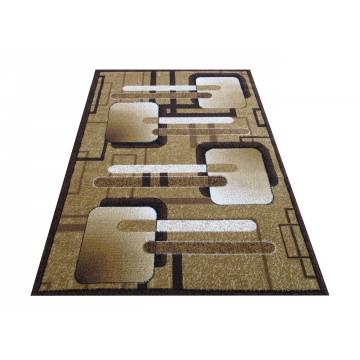 Dywan nowoczesny BCF Ankara 16 brązowy- geometryczny